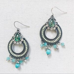 """Turquoise Delight"" Statement Earrings"